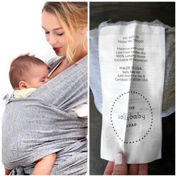 Solly Baby Other Wrap Original Xl Heather Grey Poshmark